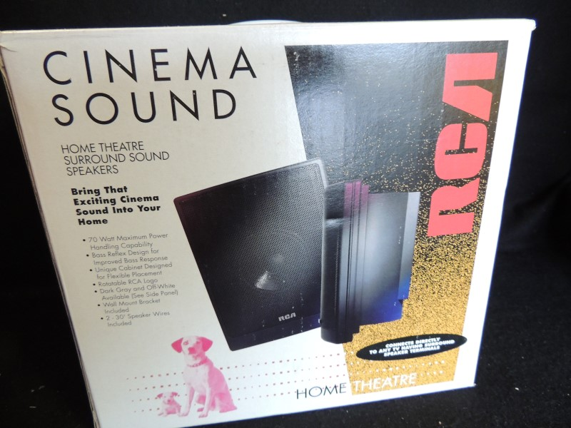 RCA CINEMA SOUND 70 Watt Home Theatre Speakers Pair (2) SP5065S2 White