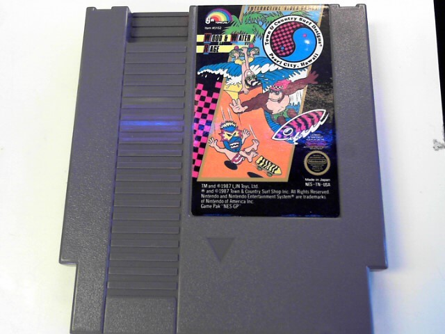 T&C SURF DESIGNS WOOD AND WATER RAGE NES NINTENDO GAME