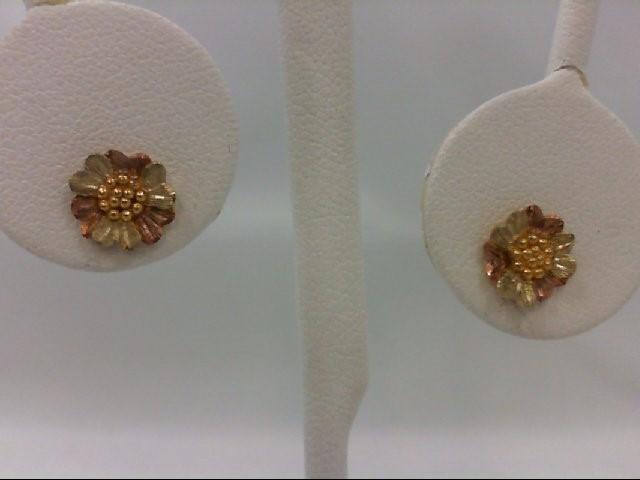 Gold Earrings 10K Tri-color Gold 1.1g