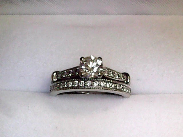 Lady's Diamond Wedding Set 34 Diamonds .63 Carat T.W. 18K White Gold 2.8dwt