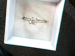 Lady's Diamond Solitaire Ring .33 CT. 10K White Gold 2.28g