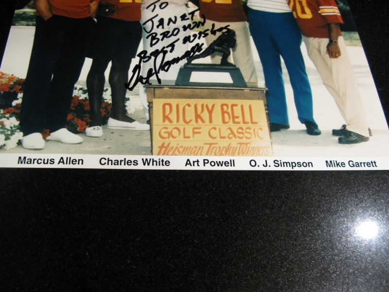 """Ricky Bell Golf Classic Photo with Heisman Trophy Winners - Autographed 8""""x10"""""""