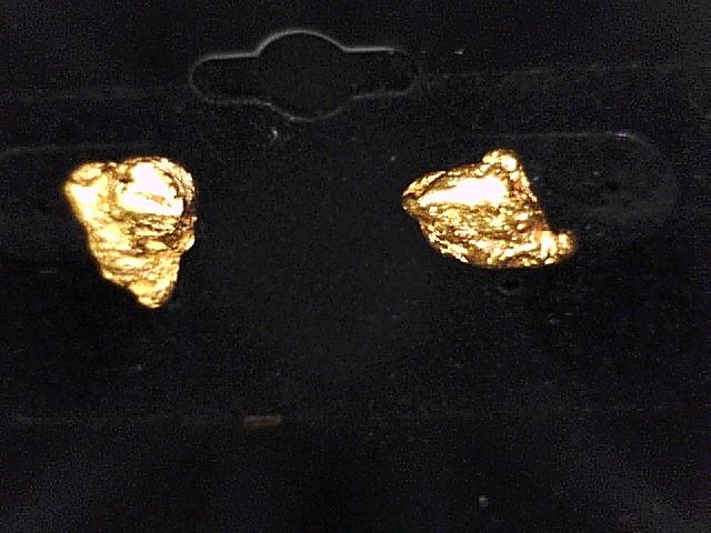 GOLD NUGGET EARRINGS 4.8G