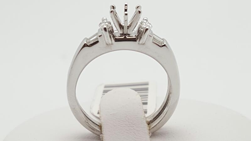 Platinum-Diamond Wedding Set 6 Diamonds .30 Carat T.W. 950 Platinum 8.5g