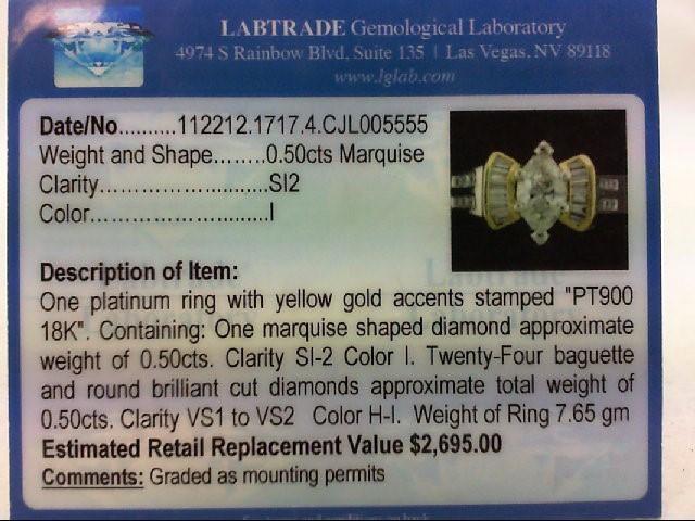 Lady's Platinum-Diamond Wedding Band 25 Diamonds .98 Carat T.W. 900 Platinum