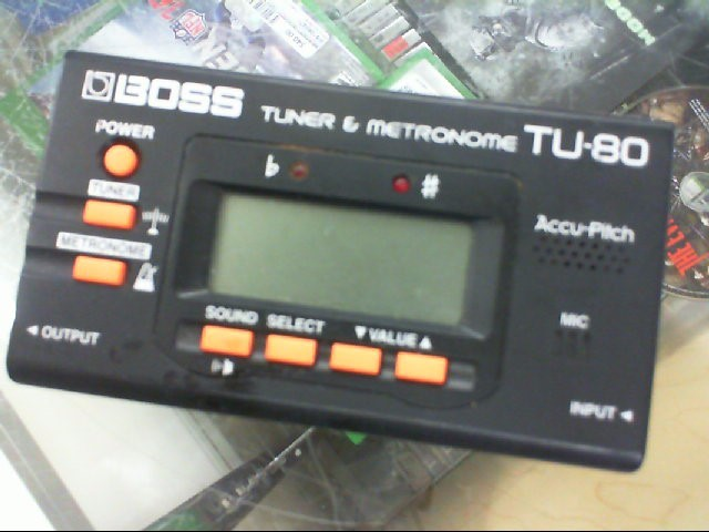 BOSS Musical Instruments Part/Accessory TU-80 TUNER & METRONOME