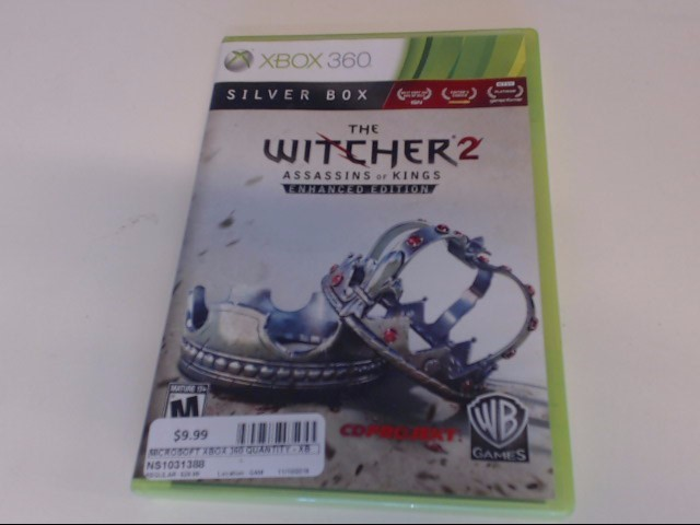 WITCHER 2 XBOX 360 GAME
