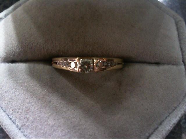 Lady's Diamond Engagement Ring 11 Diamonds .22 Carat T.W. 14K Yellow Gold 1.9g