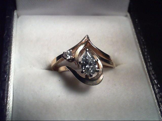 Lady's Diamond Wedding Set 2 Diamonds 0.33 Carat T.W. 14K Yellow Gold 3.4g
