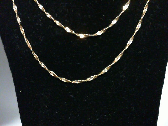 "18"" Gold Chain 14K Yellow Gold 1g"