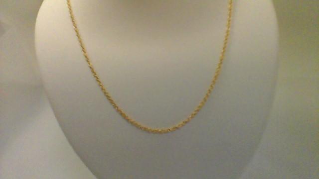 Gold Fashion Chain 14K Yellow Gold 1.7g