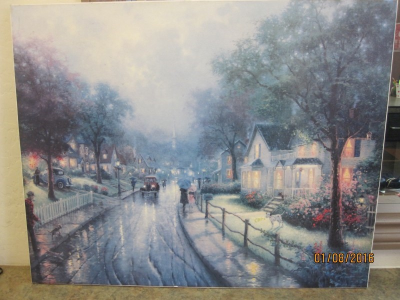 THOMAS KINKADE Painting HOMETOWN MEMORIES