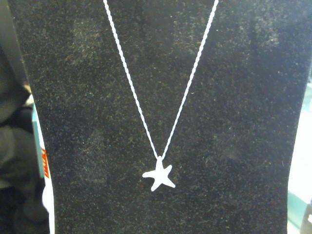 Diamond Necklace 7 Diamonds .07 Carat T.W. 14K White Gold 3.5dwt