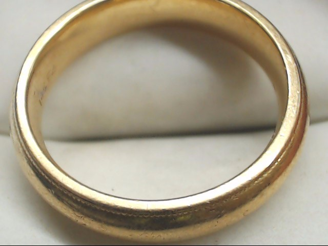 Gent's Gold Wedding Band 14K Yellow Gold 8.1g Size:9.5