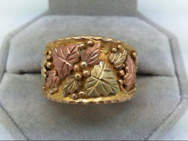 Gent's Gold Ring 10K Tri-color Gold 11.7g Size:11
