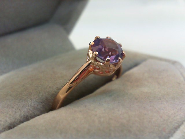 Lady's Gold Ring 10K Rose Gold 2.3g