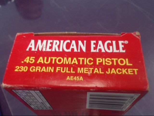 AMERICAN EAGLE Ammunition .45 AUTO 230 FMJ