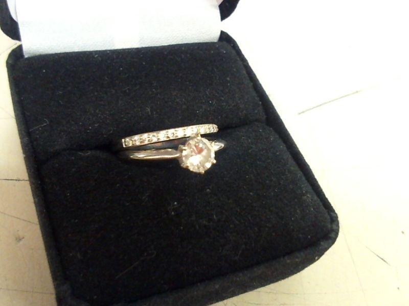 Lady's Diamond Wedding Set 22 Diamonds .61 Carat T.W. 14K White Gold 3.8g
