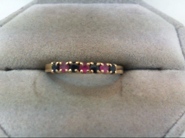 Sapphire Lady's Stone Ring 10K Yellow Gold 1.2g