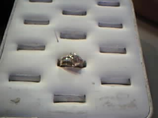 Lady's Diamond Cluster Ring 60 Diamonds .60 Carat T.W. 10K Yellow Gold 3.4g