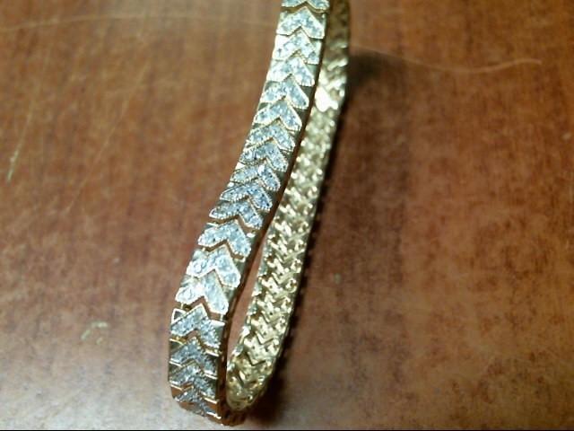 15.9G 10K YG DIAMOND BRACELET