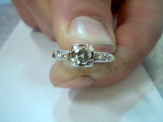 Lady's Diamond Engagement Ring 5 Diamonds .28 Carat T.W. 14K Yellow Gold 1.3g