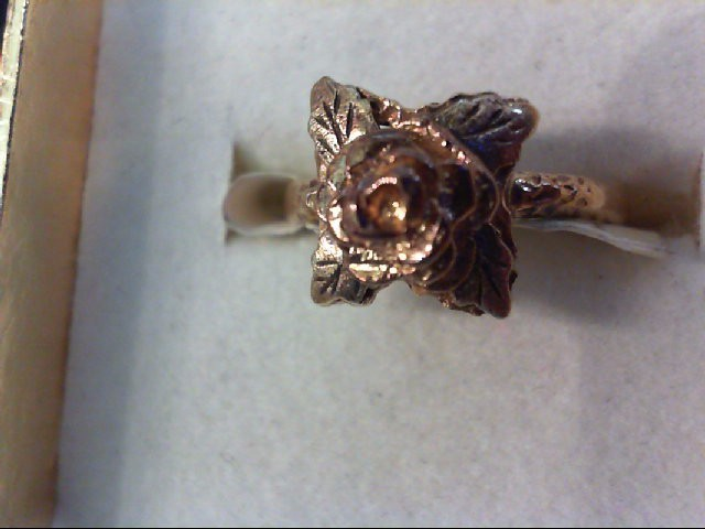 Lady's Gold Ring 10K 2 Tone Gold 2g Size:5