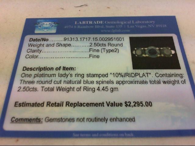 Synthetic Green Stone Lady's Platinum-Stone Ring 900 Platinum 4.45g