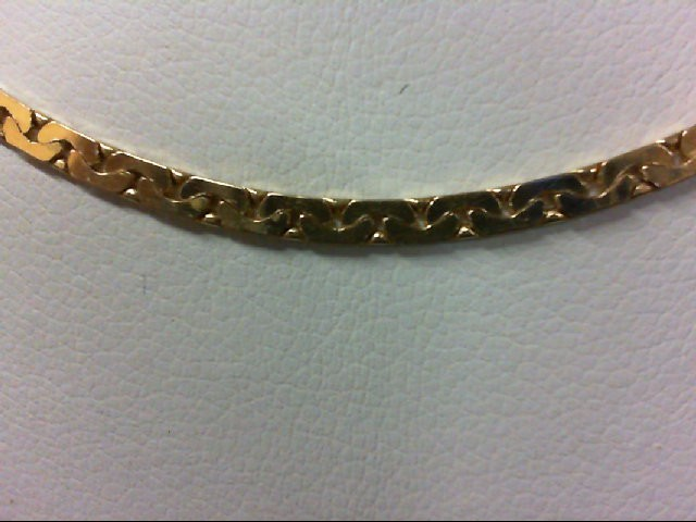 """18"""" Gold Link Chain 14K Yellow Gold 7.3g"""
