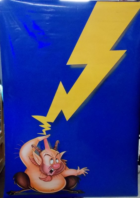 DISNEY Poster4'X7' VINYL DISNEY 1997 HERCULES MOVIE DOUBLE SIDED MOVIE POSTER, P