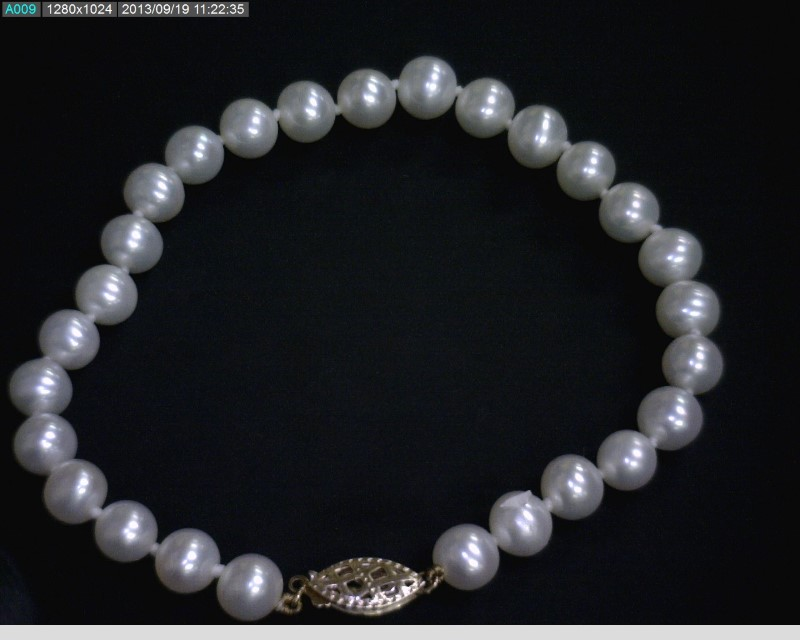 Pearl Strand Gold-Stone Bracelet 14K Yellow Gold 6dwt