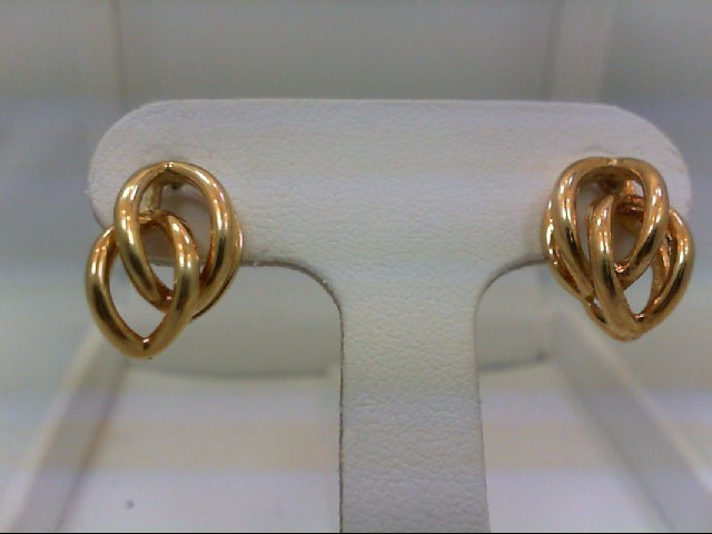 Gold Earrings 18K Yellow Gold 4.5g