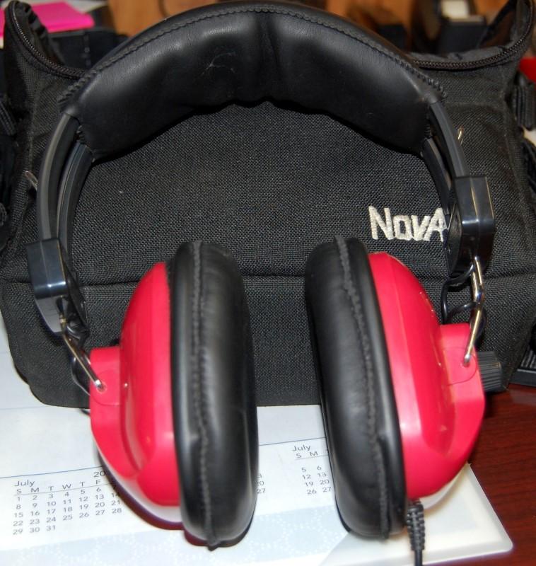 RACING HEADPHONES w/Carrying Case