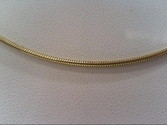 "16"" Gold Snake Chain 14K Yellow Gold 4.7g"