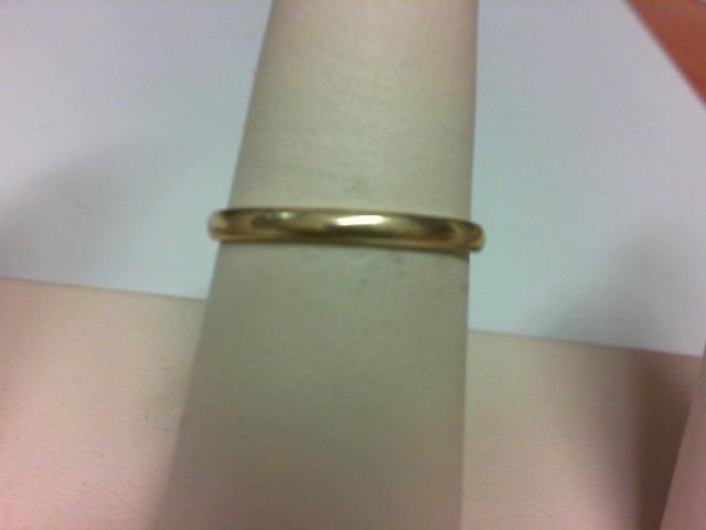 Lady's Gold Wedding Band 14K Yellow Gold 1.4g Size:8