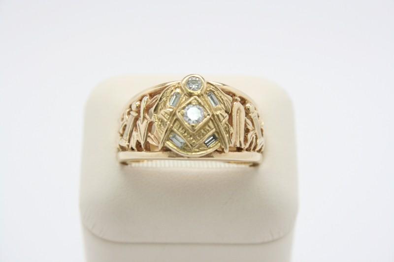 MASON DIAMOND RING 14K YELLOW GOLD