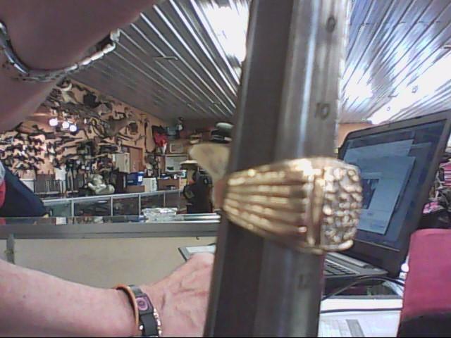 Gent's Diamond Cluster Ring 10 Diamonds .44 Carat T.W. 10K Yellow Gold 4.6dwt