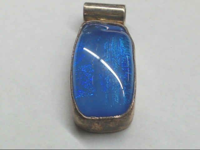 Silver Blue Stone Pendant 925 Silver 13.2g