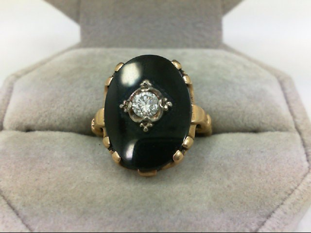 Lady's Diamond Cluster Ring 0.22 CT. 14K Yellow Gold 4.3g