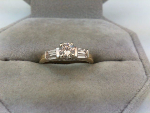 Lady's Diamond Engagement Ring 5 Diamonds .50 Carat T.W. 14K Yellow Gold 2.75g