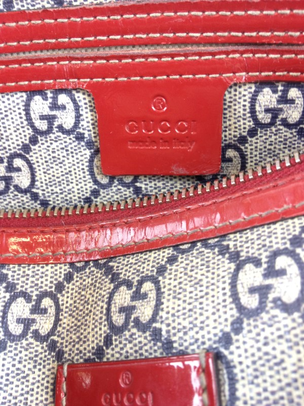 GUCCI 204046 SMALL BOSTON MONOGRAM HEART/ROSES TATTOO