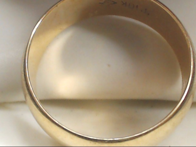 Gent's Gold Wedding Band 10K Yellow Gold 6.4g Size:9.5