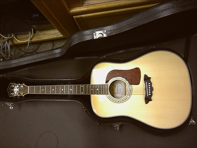 WASHBURN Acoustic Guitar D34S Augusta & Hard Case