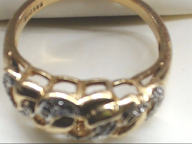 Lady's Gold Ring 14K Yellow Gold 3.2g Size:7