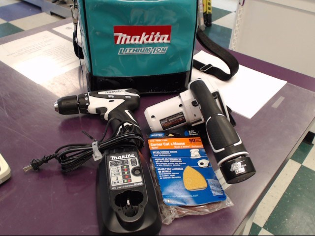 MAKITA DRILL/SAW 12V SET LCT208W WITH A CARRYING CASE.