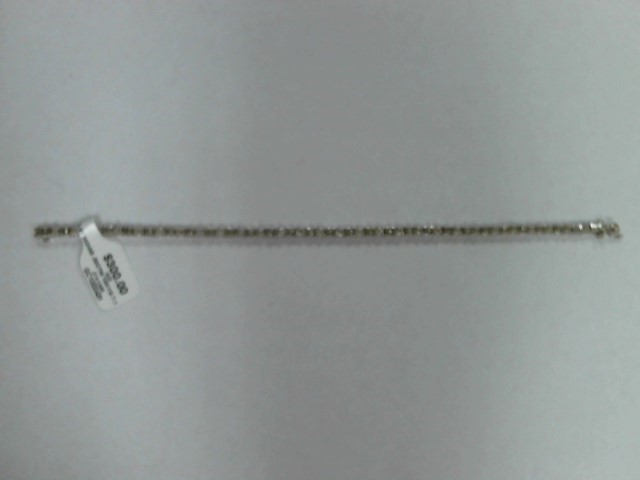 Gold-Diamond Bracelet 30 Diamonds 0.3 Carat T.W. 10K white Gold 4.8dwt