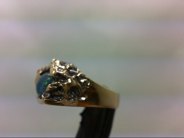 Opal Lady's Stone Ring 14K Yellow Gold 6.5g Size:6.25