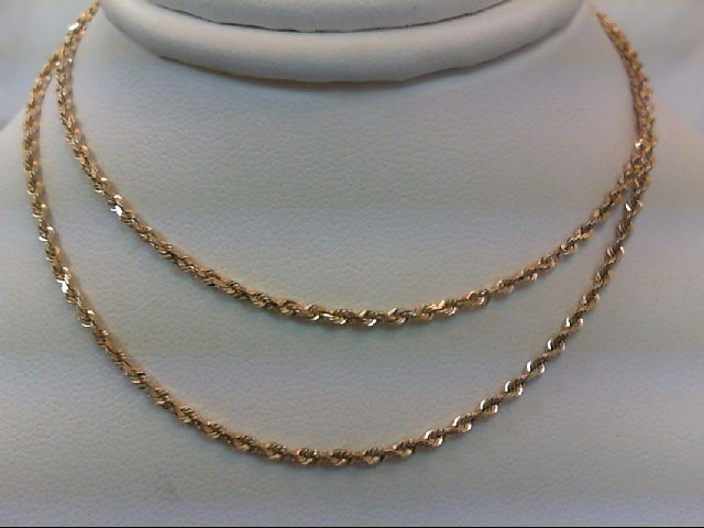 "18"" Gold Rope Chain 14K Yellow Gold 4.3g"