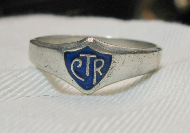 LDS CTR Silver Ring 925 Size:12.4 Jesus Christ of Latter-day Saints