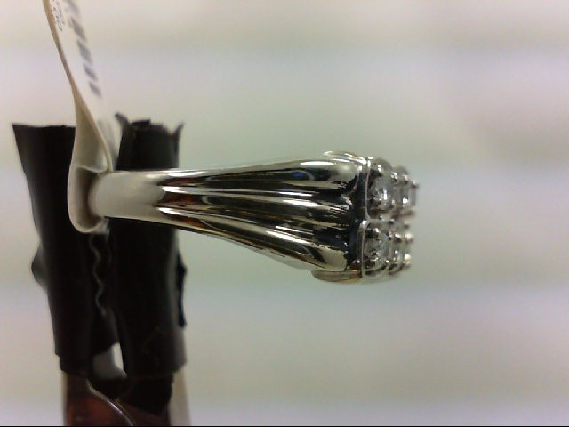 Lady's Diamond Wedding Band 10 Diamonds .50 Carat T.W. 14K White Gold 5g